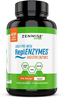 Daily Pre Meal Digestive Enzymes - Vegan & Non-GMO 11 Enzyme Blend - Gut Health Supplement for Bloating, Constipation & Ga...