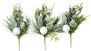 """CraftMore Pine and Pine Cone Pick 16"""" Set of 3"""