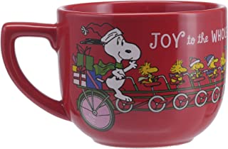 Hallmark 6MJC3025 One Oversized Snoopy Peanuts Mug, Extra Large, Red