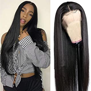 Maxine Hair 360 Lace Frontal Wig Human Hair Straight Hair Wigs Pre Plucked with Baby Hair 180% Density Straight 360 Lace Front Wigs for Black Women(14inch)