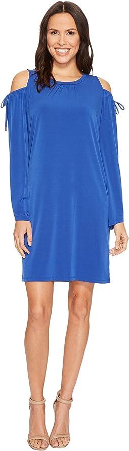 MICHAEL Michael Kors Solid Matte Jersey Cold Shoulder Dress