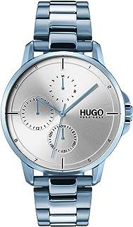 HUGO BOSS #FOCUS MEN's SILVER WHITE DIAL WATCH - 1530051