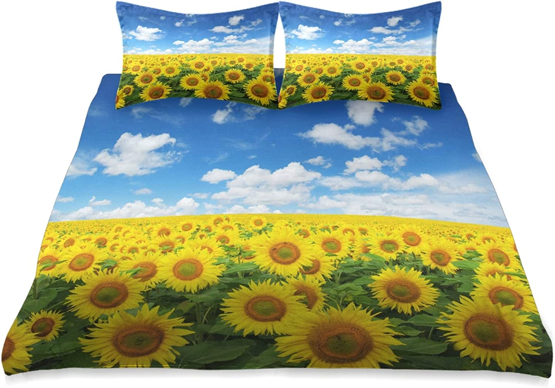 VOUSME Sunflower 今ダケ送料無料 Sky Cloud Pattern Bed Pie Duvet 3 新色追加 Cover Set