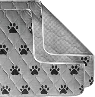 Gorilla Grip Original Reusable Pad and Bed Mat for Dogs, 14x10 inches, Absorbs 1.5 Cups, Oeko Tex Certified, Washable, Wat...