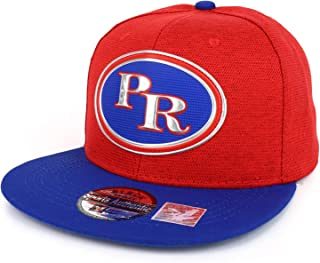 Puerto Rico High Frequency Emblem Flat Bill Snapback Hat