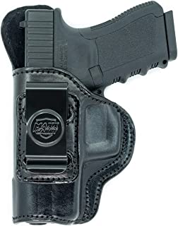 Maxx Carry Inside The Waistband Leather Holster for Glock 19, 23. IWB Holster with Clip Conceal Carry.