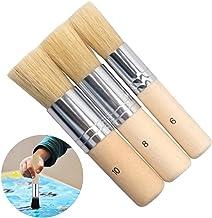 Houten Stencil Borstels Puur Natuurlijk Wax Borstel Wax Brush Set Natuurlijke Pure Borstel Stencil Penselen Set Pure Natuu...