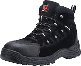 LARNMERN Chaussure de Securité Homme,S3 SRC Embout en Acier Respirables Réfléchissantes Chaussures de Travail