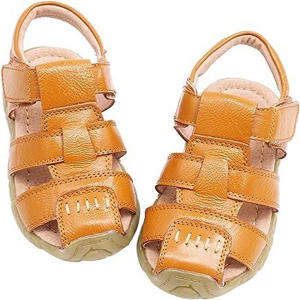 b2e295c3453b8f Gaatpot Enfant Sandales et Nu-Pieds en Cuir Bébé Chaussure Sandales Bout  Fermé Chaussure d