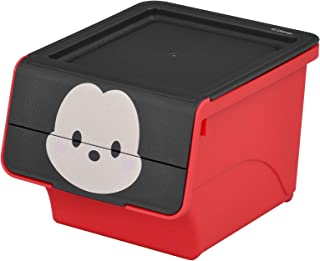 【ギフトボックス にも最適】サンカ ディズニー ツムツム ミッキー (幅10.2×奥行12.2×高さ8.2cm) 小物 収納ボックス フロック クワトロ Dfrq-MK 日本製