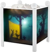 Trousselier - Schaduwspel – nachtlampje – magische lantaarn – ideaal geboortegeschenk – kleur hout wit – geanimeerde afbee...