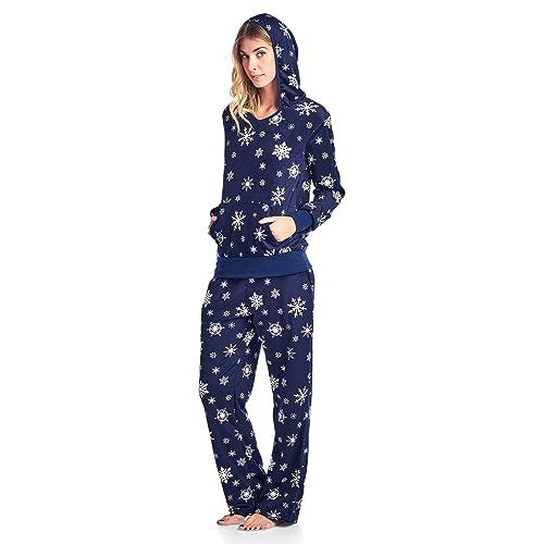 Ashford   Brooks Women s Mink Fleece Hoodie Pajama Set b380df232