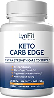 LynFit Nutrition Keto Carb Edge Extra Strength Carb Control | White Kidney Bean Carb Blocker and Fat Burner | All-Natural ...