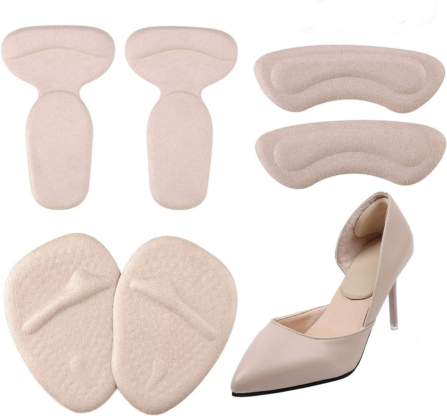 1 Pair Heel Pad Insoles Cushion Shock Absorption Relief Foot Pain Soft Inse~ii
