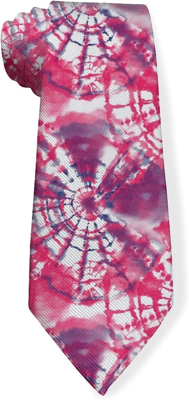 Featured Style Red Tie DyeMens Classic Color Slim Tie, Men's Neckties, Fashion Boys Cravats