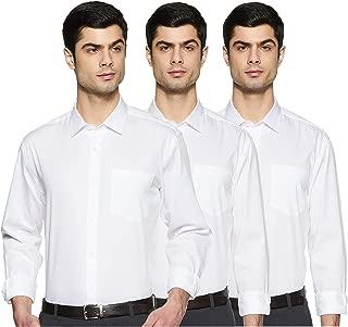 Amazon Brand - Symbol Men's Regular fit Formal Shirt (Pack of 3)