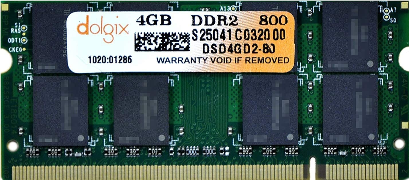 DOLGIX 4GB DDR2 800MHz PC2-6400 R Pin-200 Laptop Selling and selling Easy-to-use Memory Module