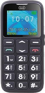 Trevi SICURO 10 Telefono Cellulare per Anziani con Tasti Grandi, Funzione SOS, Base di Ricarica, Slot SD fino a 16 GB, di ...