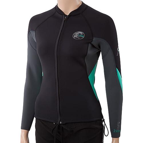 ab5ad4a7f5 O Neill Womens Bahia 2 1mm Full Zip Wetsuit Jacket