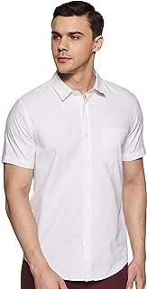 Forever 21 Men's Plain Regular Fit Casual Shirt