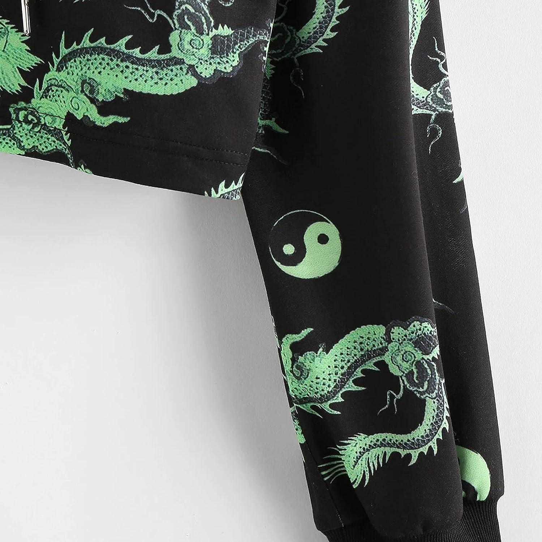 UOCUFY Hoodies for Women, Womens Sweatshirt Casual Long Sleeve Letter Print Hoodie Pullover Loose Tie Dye Crop Tops