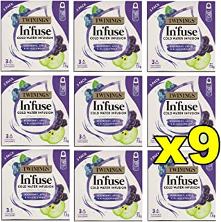 9X Twinings Infuse Cold Water Infusion Fruit Tea - Blueberry Apple & Blackcurrant