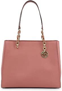 Michael Kors Sofia Saffiano Leather Large Shoulder Tote Bag Purse in Rose