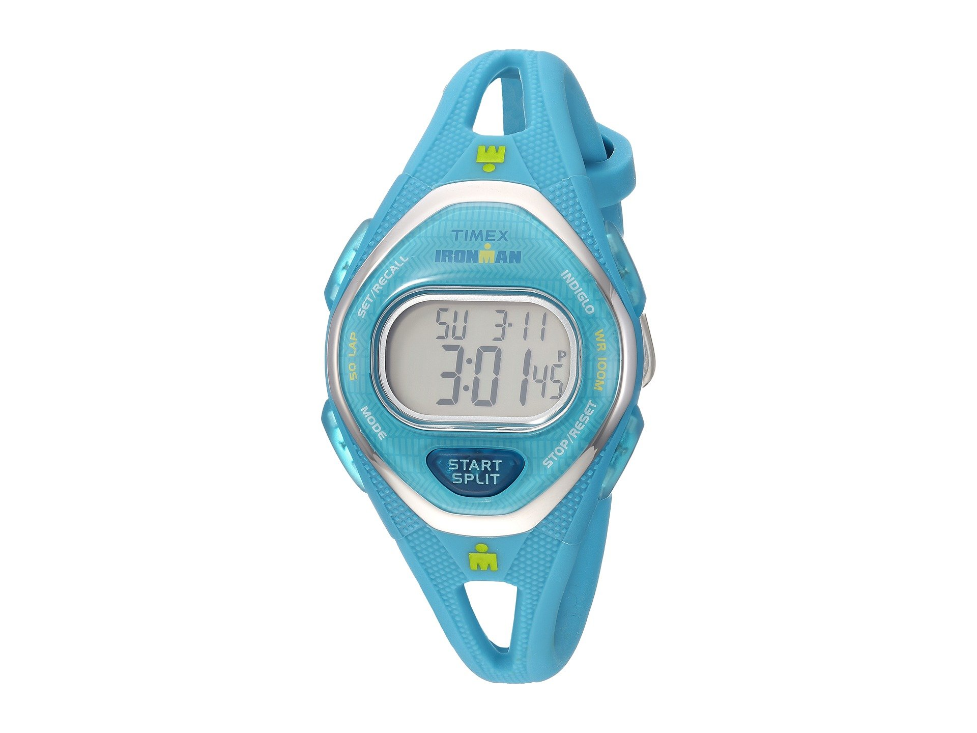 TIMEX Ironman Sleek 50 Mid-Size Silicone Strap, Teal