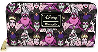 Loungefly Disney Villains Faux Leather Zip Around Wallet
