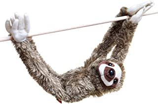 28-Inch Hanging Sloth Stuffed Animal - Ultra Soft Plush Design With Hands And Feet That Connect Together - Realistic Looking Three Toed Sloths - Bring These Popular Sloths Home To Boys & Girls Ages 3+