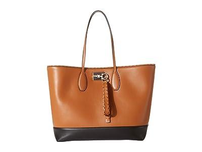 Salvatore Ferragamo The Studio Infilatura Medium Tote (Vicuna) Handbags