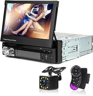 CarThree Single Din Car Stereo Touch Screen 7 Inch Car Radio Touch Screen Bluetooth AUX/USB/TF Car FM Radio Receiver MP3/M...