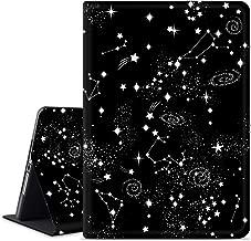 Anermist Smart Case for iPad 6th Generation/iPad 9.7 Case 2018/2017/ iPad Air 2/ iPad Air Case, Microfiber Lining, Soft TPU Back Case, Protective Leather Case, iPad Cover for Apple iPad (Black-Star)