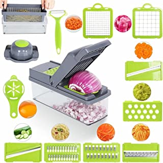 Sponsored Ad - Saknemi Vegetable Chopper Has Eight Blades Adjustable Blades For Different Uses, Onion DicerCutter, Tomato ...