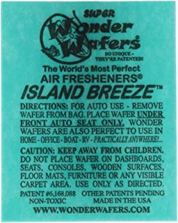 Wonder Wafers 25 CT Individually Wrapped Island Breeze Air Fresheners