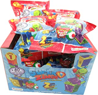 Magic Box SUPERZINGS Caja Completa 12 Sobres 2 Personajes Cada uno (1 héroe + 1