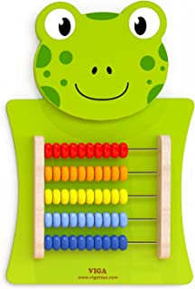 Viga Toys - 50679 - Wall Game - Abacus - Frog