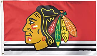 WinCraft NHL Chicago Blackhawks 02416115 Deluxe Flag, 3' x 5'