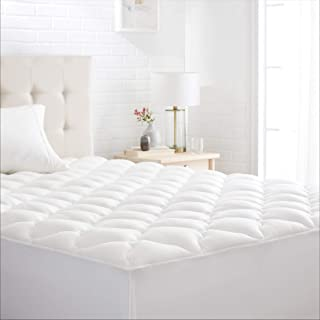 AmazonBasics Conscious Series Cool-Touch Rayon Bamboo Mattress Topper Pad - Queen