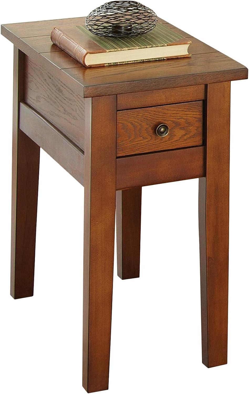 Steve Silver Desoto Chairside End Table In Dark Oak