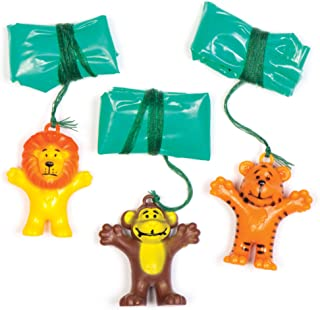 Baker Ross Lot de 8 Mini Parachutes de la Jungle pour Enfants, AV162, Asst Couleur