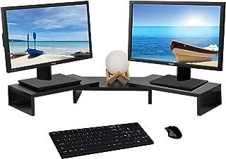 YCOCO 3 Shelf Multifunctional Screen Desktop Organizer with Adjustable Length and Angle, Black