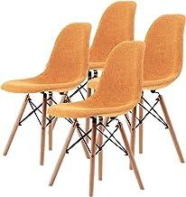 La Bella Replica Eames DSW Dining Chair - Light Orange X4