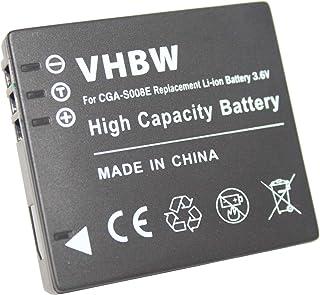 vhbw Akku Ersatz für Panasonic VW VBJ10, VW VBJ10E für Kamera Digicam DSLR (600mAh, 3.6V, Li Ion)