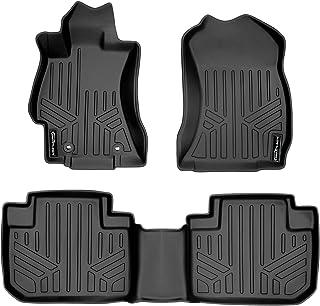 SMARTLINER Custom Fit Floor Mats 2 Row Liner Set Black for 2014-2018 Subaru Forester