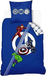 Disney Avengers - Juego de Cama (140 x 200 cm, 100% algodón)