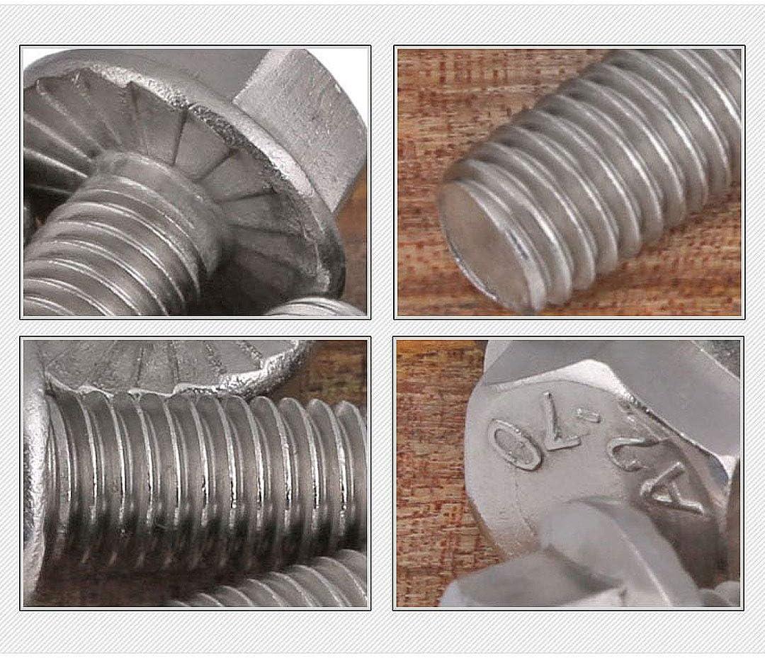 BOZONLI Edelstahl Sechskant Kopf Flansch Schrauben Scheibe Befestigungen M5/×8mm,20 pcs