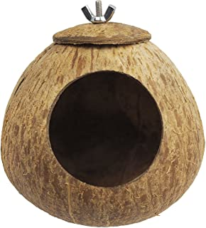 OMEM Coconut Shell Bird House,House for a Hamster,Bird Cage Toy,Pet Bird Supplies