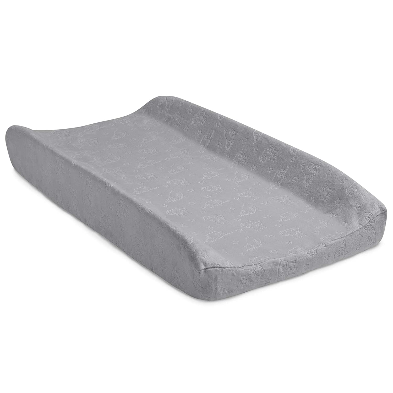 Serta Perfect Sleeper Contoured Changing Pad with Plush Cover, Grey