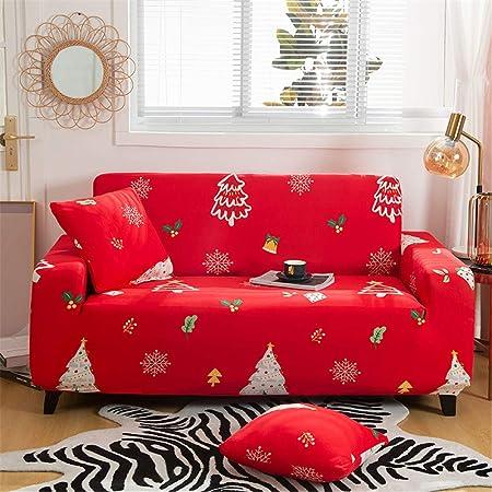 1 posto lavabile Christmas Style in tessuto elastico 1 pezzo copridivano in stile natalizio Findm Store